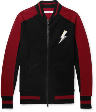 Givenchy Slim-fit Appliquéd Intarsia Wool Bomber Jacket