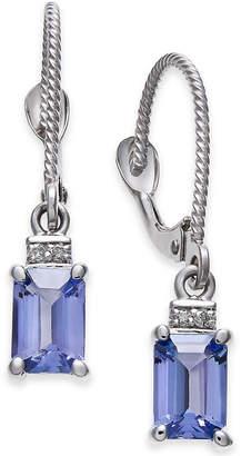 Macy's Tanzanite (1-1/5 ct. t.w.) & Diamond Accent Drop Earrings in 14k White Gold