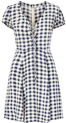 Ralph Lauren Denim & Supply Checked Lace-Up Dress $125 thestylecure.com