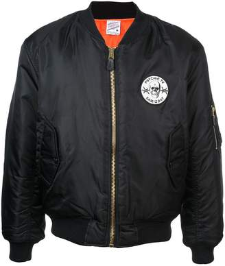 Yang Li logo patch bomber jacket