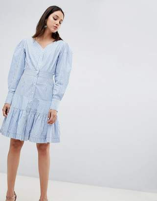 To Be Adored Rebekka Corseted Shirt Dress