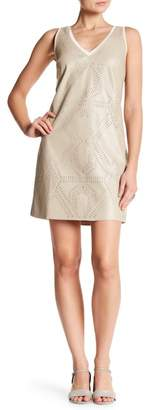 Tart Rayna Faux Leather Perforated Dress