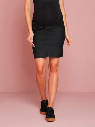 Vertbaudet Coated Straight-Cut Maternity Skirt