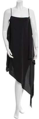 Balenciaga Fringe-Accented Asymmetrical Dress w/ Tags
