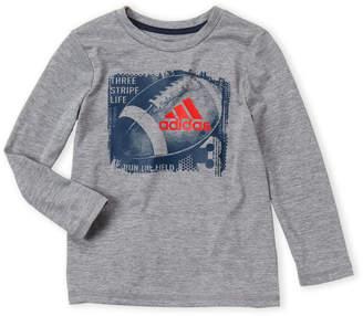 adidas Boys 4-7) Basketball Long Sleeve Tee