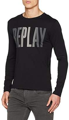 Replay Men's M3595 .000.2660 Long Sleeve Top, (Black 98), X-Large