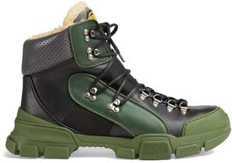 Gucci Flashtrek high-top sneaker with wool