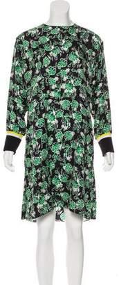 Marni Silk-Blend Knee-Length Dress