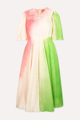 Roksanda Raeya Crinkled-taffeta Midi Dress - Pink