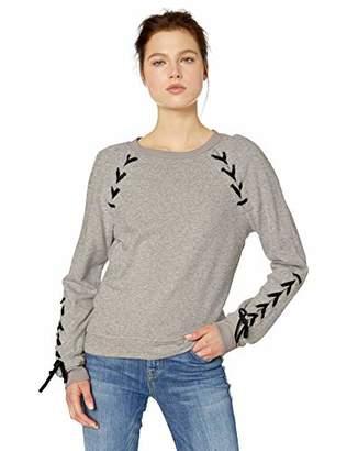 Jessica Simpson Women's Kiana Lace Up Sweatshirt,X