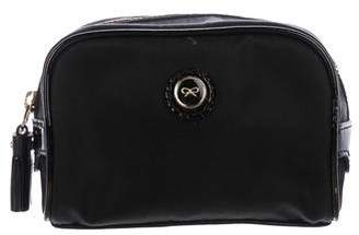 Anya Hindmarch Leather-Trimmed Cosmetic Pouch