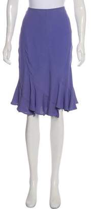 Saint Laurent Flounce Knee-Length Skirt