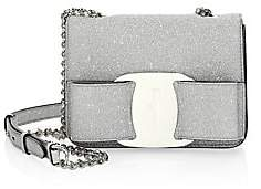 Salvatore Ferragamo Women's Mini Vara Bow Glitter Leather Crossbody Bag