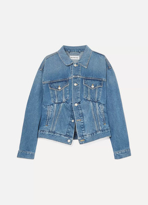 Balenciaga Oversized Denim Jacket - Blue
