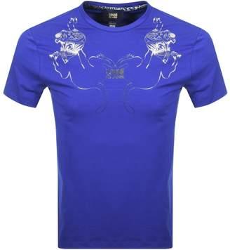 Just Cavalli Cavalli Class Leone Collo T Shirt Blue
