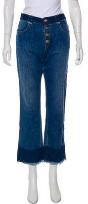 See by Chloe Mid-Rise Straight-Leg Jeans w/ Tags