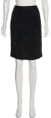 Armani Collezioni Tweed Wool-Blend Skirt