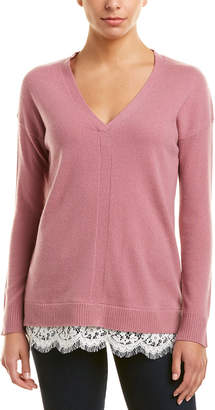 InCashmere V-Neck Cashmere Pullover