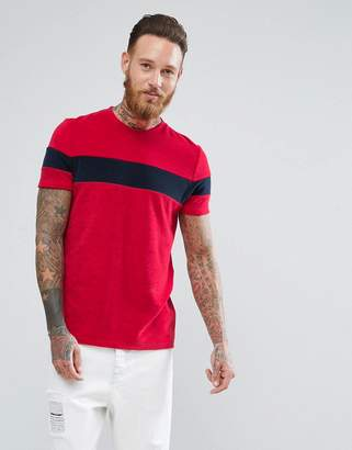 Asos DESIGN T-Shirt In Towelling With Contrast Body Panel