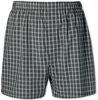 Charles Tyrwhitt Green check woven boxers