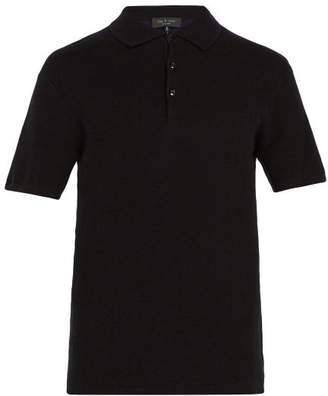 Rag & Bone - Tripp Cotton Blend Polo Shirt - Mens - Black
