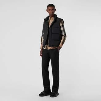 Burberry Button-down Collar Check Stretch Cotton Blend Shirt , Size: M, Brown