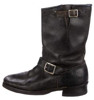 Imperial Star Distressed Leather Boots