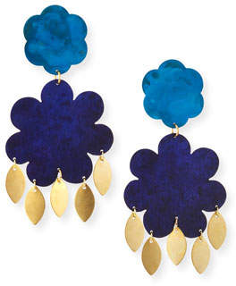 We Dream in Colour Flower Power Large Drop Earrings