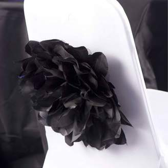 Shindigz Chair Flowers to attach to Chair Sashes, Black