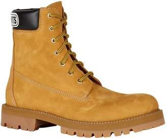 Vetements Suede Trucker Boots