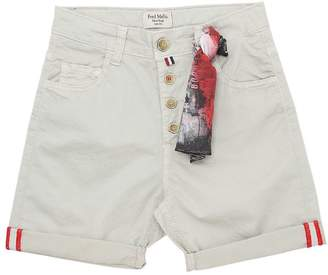 Fred Mello Stretch Gabardine Shorts W/ Bandana