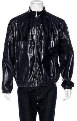 Prada Sport Leather Zip Jacket