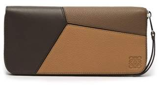 Loewe Puzzle Continental Leather Wallet - Mens - Brown