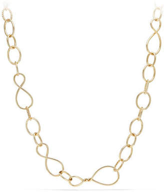 "David Yurman Continuance Large 18K Chain Necklace, 32"""