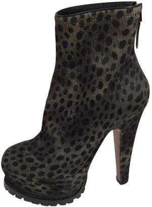 Alaia Pony-style calfskin ankle boots