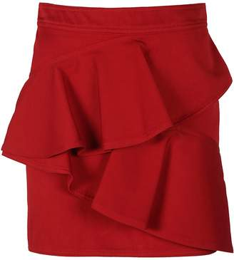 fe12954f02 Red Ruffle Skirt - ShopStyle