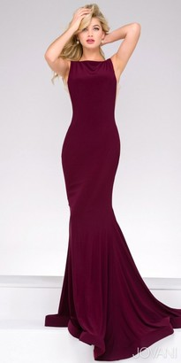 Jovani Plunging V-back Mermaid Prom Dress $500 thestylecure.com