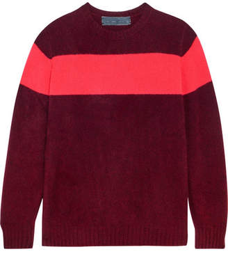 The Elder Statesman Striped Cashmere Sweater - Burgundy