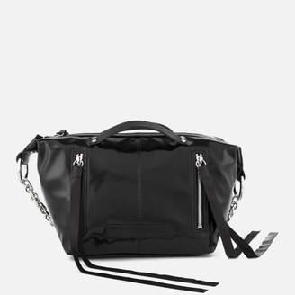 McQ Women's Mini Hobo Vinyl Cross Body Bag - Black