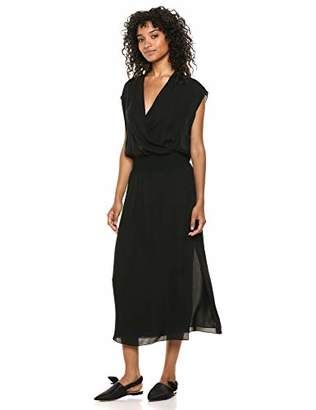 Theory Women's Sleeveless Draped Combo Dress