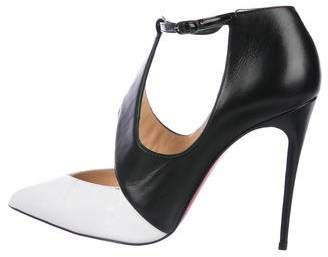 Christian Louboutin Leather Cut-Out Pumps
