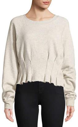 Current/Elliott CURRENT ELLIOTT Pintucked Sweatshirt
