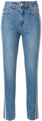 GCDS side stripe jeans