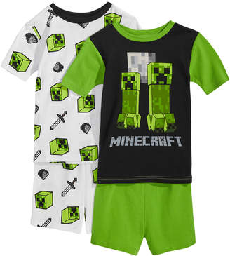 4-Pc. Creeper Cotton Pajama Set, Little Boys & Big Boys