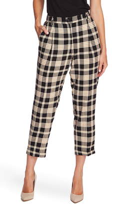 Vince Camuto Highland Plaid Cuffed Crop Pants