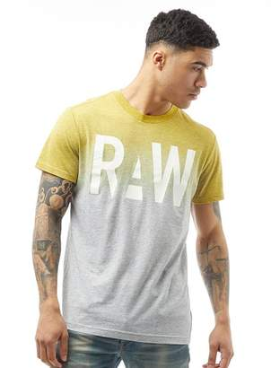 G Star G-STAR Mens Wendor T-Shirt Grey Heather/Yellow