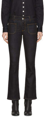 Stella McCartney Blue Skinny Flare Patch Pocket Jeans