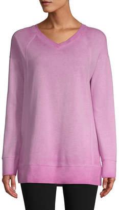 ST. JOHN'S BAY SJB ACTIVE Active Long Sleeve Garment Wash Sweatshirt -Tall