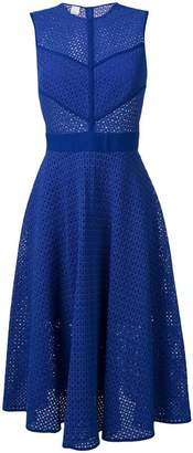 Pinko perforated flared dress