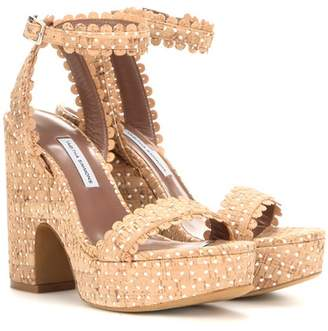 ... Tabitha Simmons Harlow perforated cork sandals